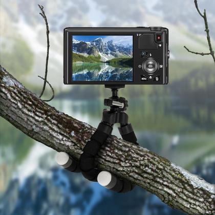 iGadgitz Small Lightweight Flexible Foam Mini Tripod Flexipod Stand for Compact Cameras Thumbnail 4
