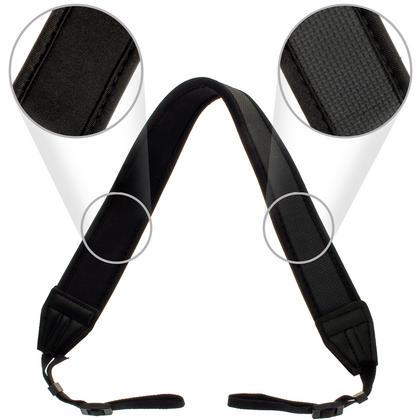 Optix Pro Black Universal Neoprene Shoulder Neck Strap with Rubber Anti-Slip Grip for all SLR DSLR Bridge Cameras Thumbnail 3