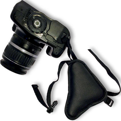 Optix Pro PU Leather Hand Wrist Grip Strap for DSLR SLR Cameras, Video Cameras & Camcorders Thumbnail 3