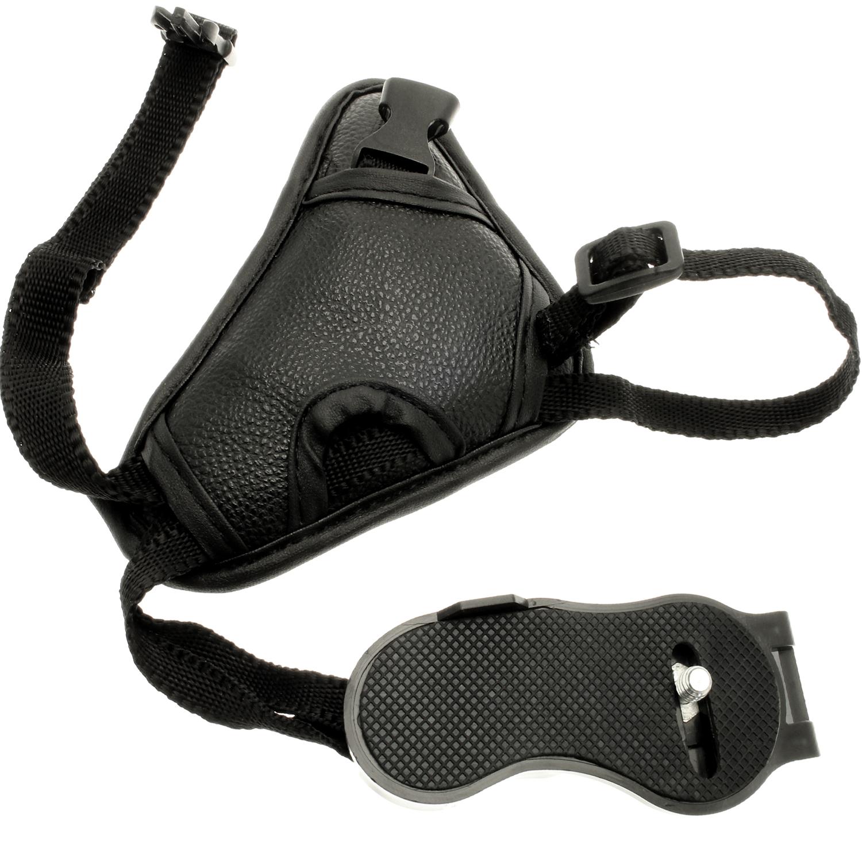 Optix Pro PU Leather Hand Wrist Grip Strap for DSLR SLR Cameras, Video Cameras & Camcorders