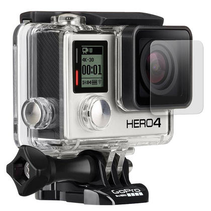 Optix Pro 1x LCD Screen Protector & Lens Protector with Cleaning Cloth for GoPro Hero4 Silver Thumbnail 2