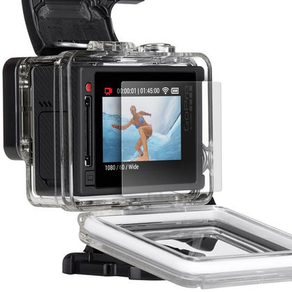 Optix Pro 1x LCD Screen Protector & Lens Protector with Cleaning Cloth for GoPro Hero4 Silver Thumbnail 3