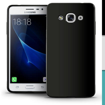 iGadgitz Glossy TPU Gel Skin Case Cover for Samsung Galaxy J3 Pro (2017) + Screen Protector Thumbnail 3