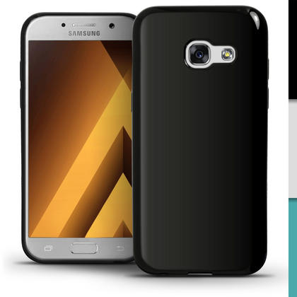 iGadgitz Glossy TPU Gel Skin Case Cover for Samsung Galaxy A5 (2017) + Screen Protector Thumbnail 3