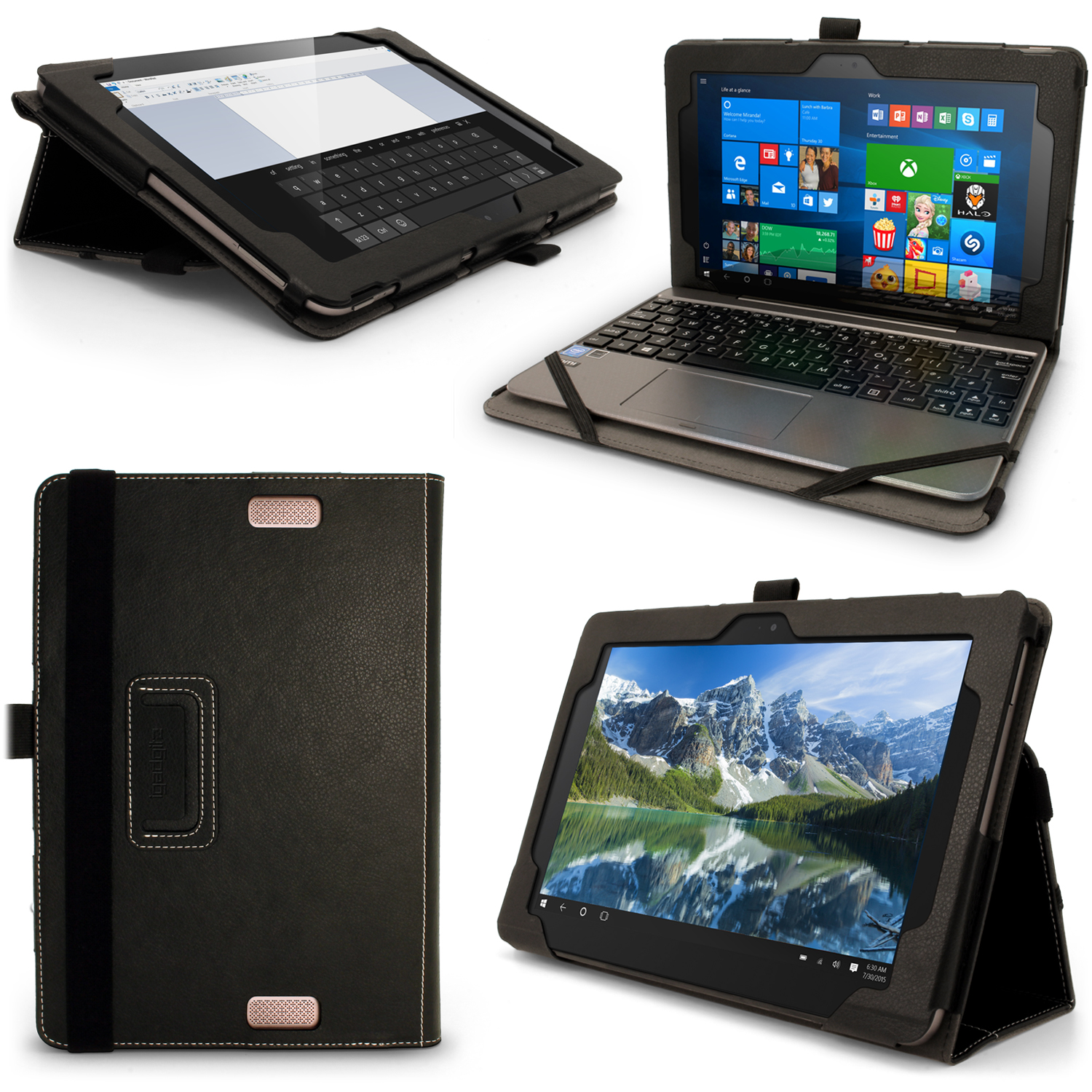 "iGadgitz PU Leather Case for Asus Transformer Book T101HA 10.1"" with Stand, Stylus Holder & Screen Protector"