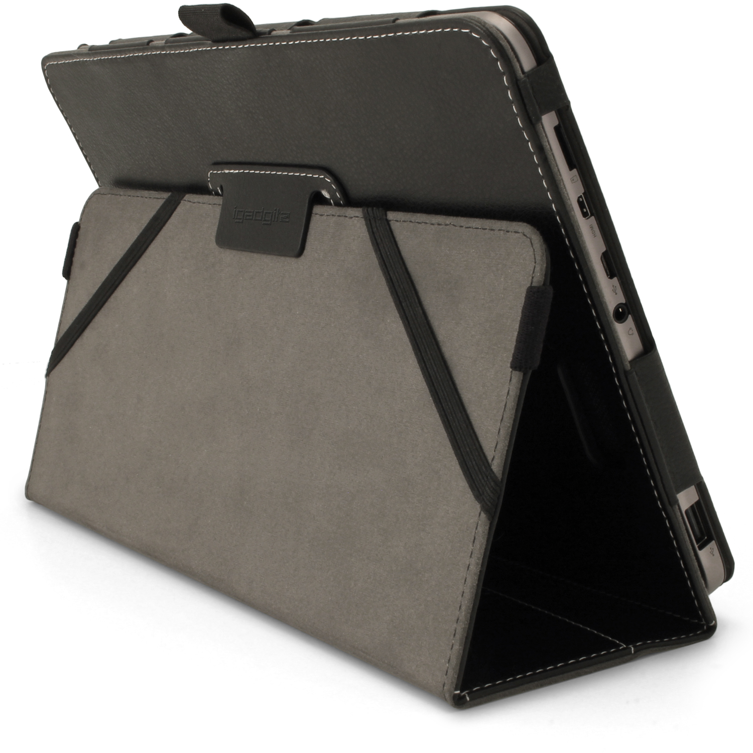 igadgitz pu leather case for asus transformer book t101ha 10 1
