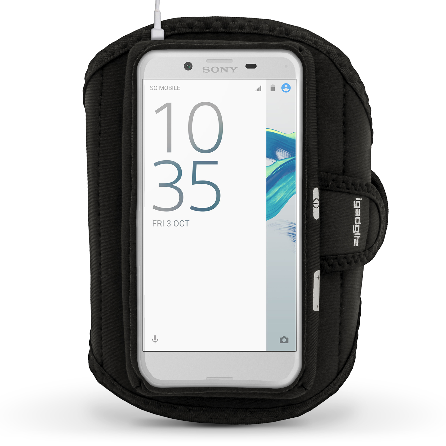 iGadgitz Water Resistant Running Jogging Gym Sports Armband for Sony Xperia X Compact