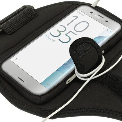 iGadgitz Water Resistant Running Jogging Gym Sports Armband for Sony Xperia X Compact Thumbnail 4