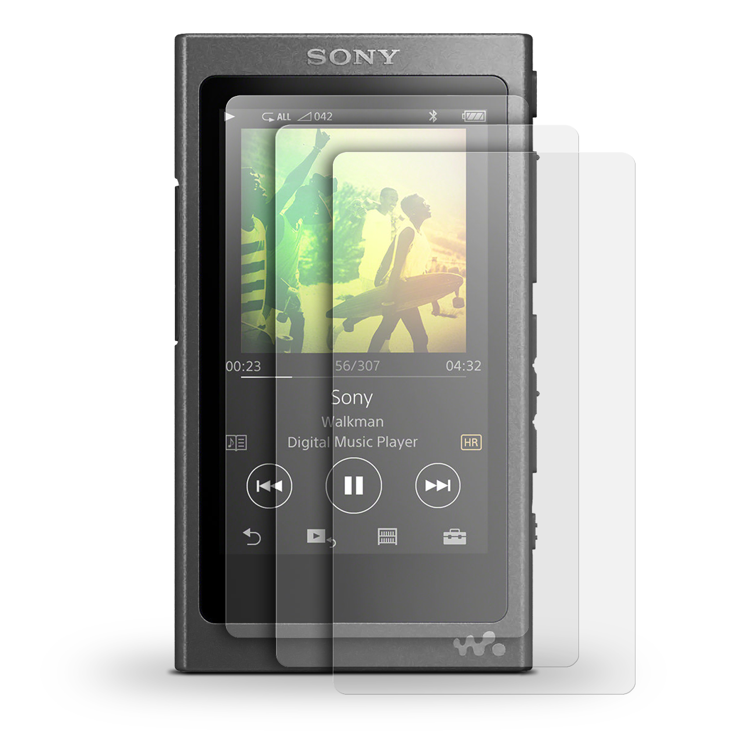 iGadgitz 3x Pack of Screen Protector for Sony Walkman NW-A35 NW-A40 MP3 Player Clear Protective Film