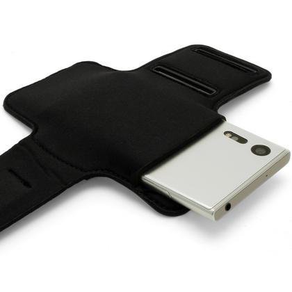 iGadgitz Reflective Black Sports Jogging Gym Armband for Sony Xperia XZ F8331, XZ1 F8342, Dual F8332 + Key Slot Thumbnail 2