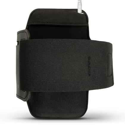 iGadgitz Reflective Black Sports Jogging Gym Armband for Sony Xperia XZ F8331, XZ1 F8342, Dual F8332 + Key Slot Thumbnail 3