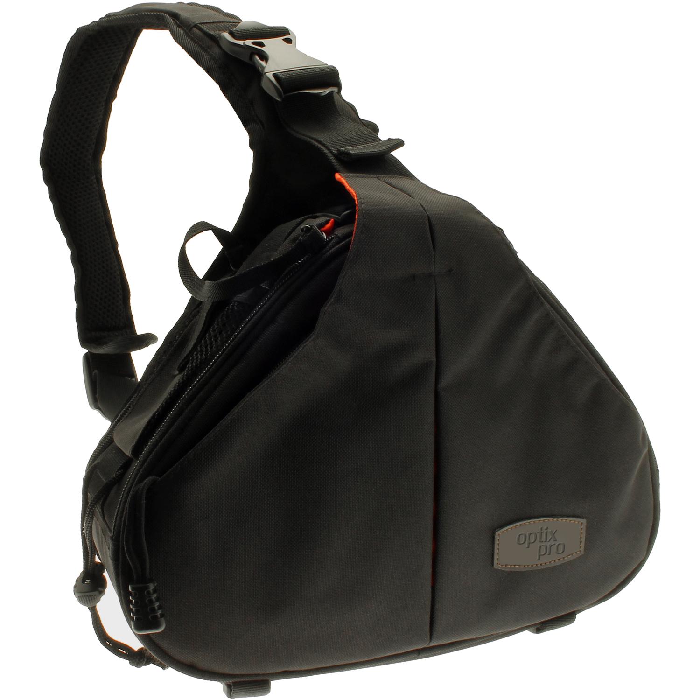 Optix Pro Water Resistant Shoulder Bag for Panasonic DSLR & Bridge Cameras & Lens with Rain Cover and Tripod Holder