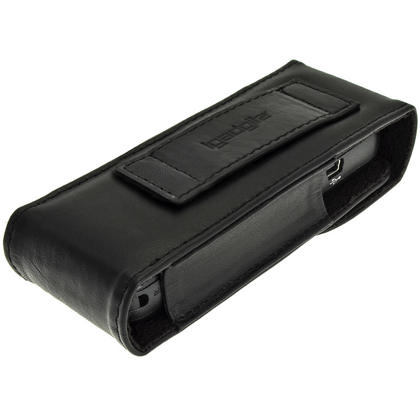 iGadgitz Black Genuine Leather Case Cover for Sony ICDUX533 Digital Voice Recorder Thumbnail 5
