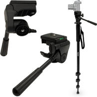 """iGadgitz Kit of 160cm (63"""") 4 Section Extendable Aluminium Monopod with Tilt Pan Head for Camera & Camcorder"""