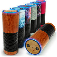 iGadgitz Print Protective Vinyl Skin Decal Wrap Cover for Amazon Echo