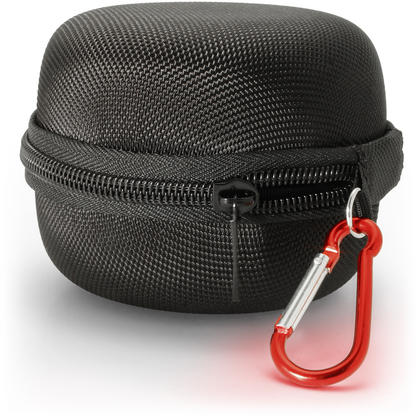 iGadgitz Black EVA Zipper Carrying Hard Case Cover for Amazon Echo Dot 1st & 2nd Generation Thumbnail 2