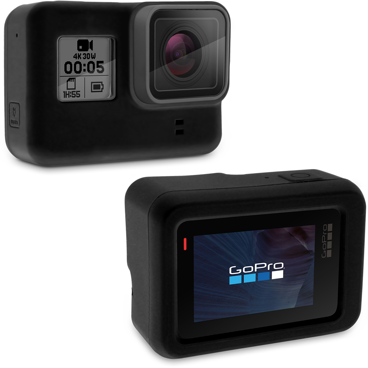 Optix Pro Black Silicone Housing Protective Case for GoPro Hero5 Black Action Camera (NOT suitable for Hero5 Session)