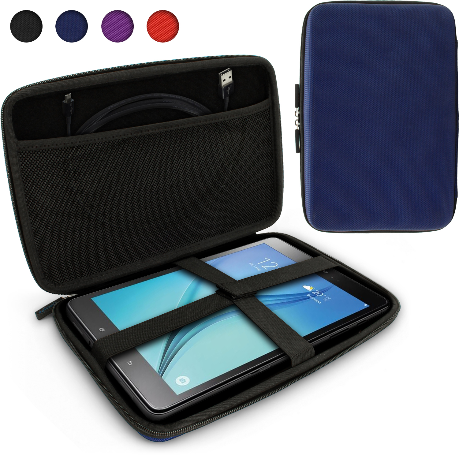 "iGadgitz Blue EVA Travel Hard Case Cover for Samsung Galaxy Tab A 10.1"" Tablet"