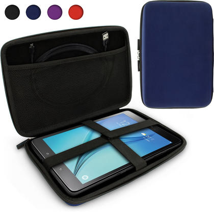 "iGadgitz Blue EVA Travel Hard Case Cover for Samsung Galaxy Tab A 10.1"" Tablet Thumbnail 1"