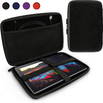 iGadgitz Black EVA Travel Hard Case Cover for Lenovo Tab 2 A10, IdeaPad MIIX 310, Tab 3 10 Business Thumbnail 1