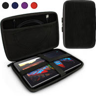 iGadgitz Black EVA Travel Hard Case Cover for Lenovo Tab 2 A10, IdeaPad MIIX 310, Tab 3 10 Business
