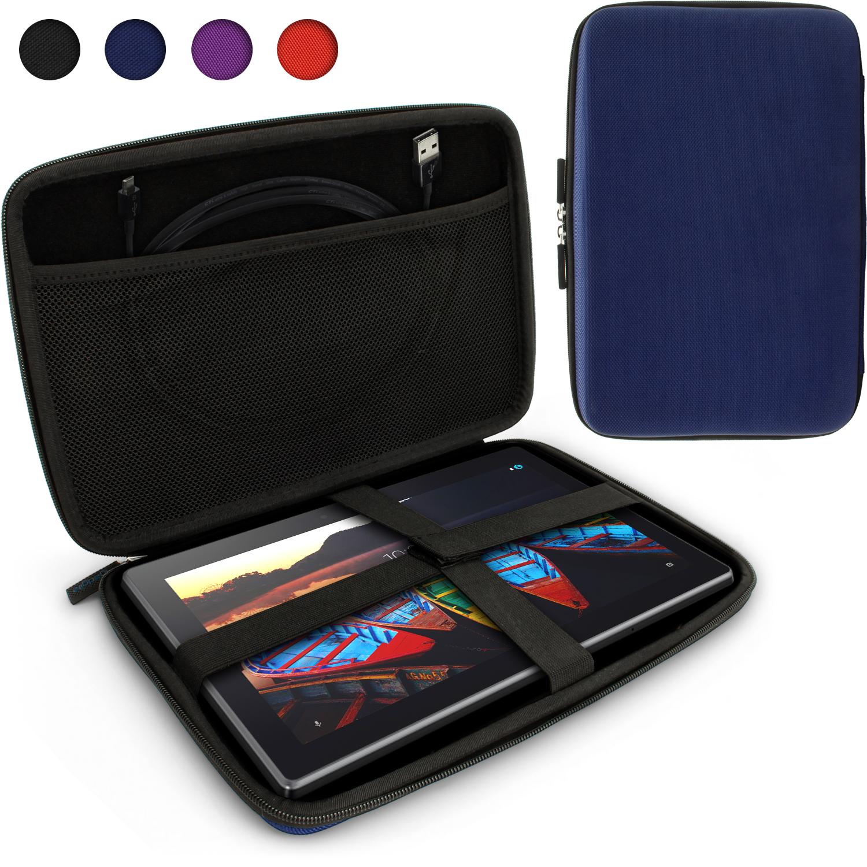 iGadgitz Blue EVA Travel Hard Case Cover for Lenovo Tab 2 A10, IdeaPad MIIX 310, Tab 3 10 Business