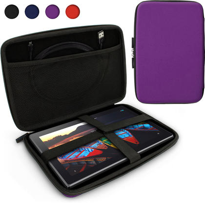 iGadgitz Purple EVA Travel Hard Case Cover for Lenovo Tab 3 10 Business Tablet Thumbnail 1