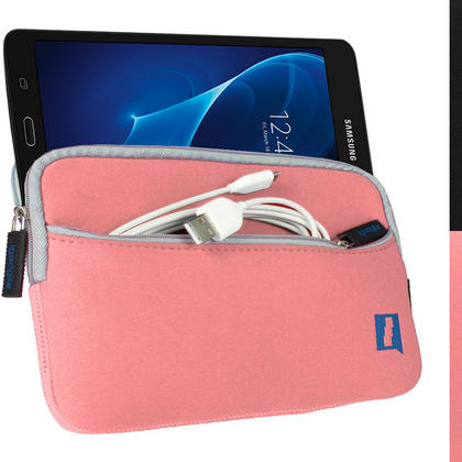 "iGadgitz Pink NeopreneTravel Case Cover for Samsung Tab A 7"" SM-T280 Tablet Thumbnail 1"