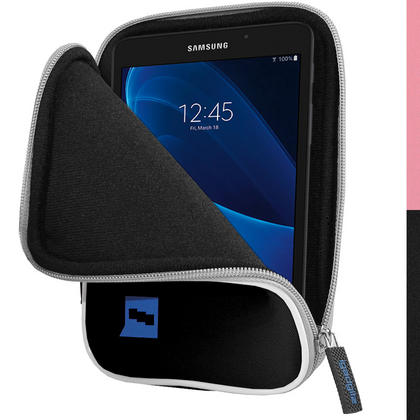 """iGadgitz Black NeopreneTravel Case Cover for Samsung Galaxy Tab A 7"""" SM-T280 Tablet Thumbnail 1"""