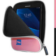 "iGadgitz Pink NeopreneTravel Case Cover for Samsung Galaxy Tab A 7"" SM-T280 Tablet"
