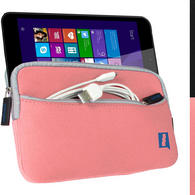 "iGadgitz Pink NeopreneTravel Case Cover for Linx 7"" EM-I8270 Tablet"