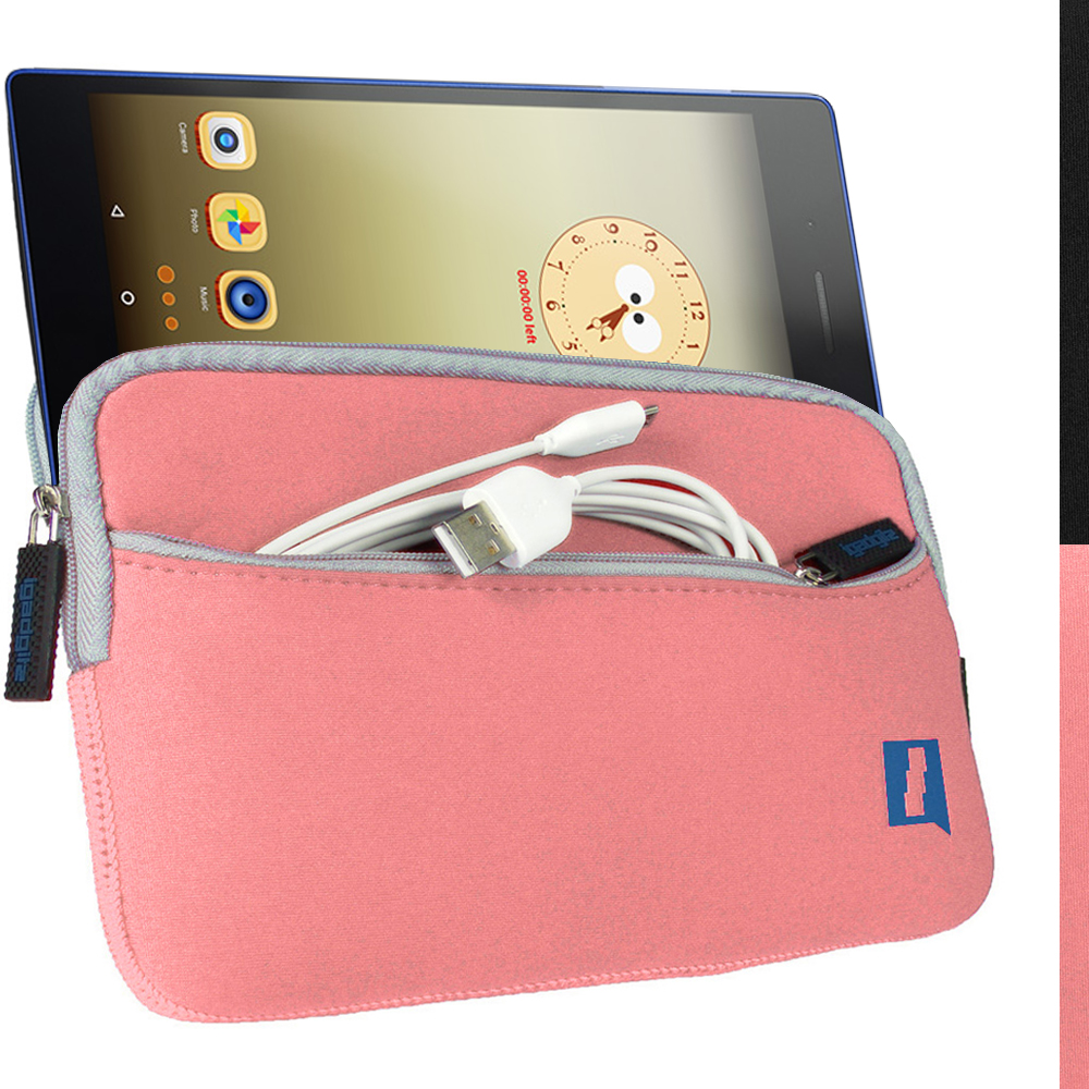 "iGadgitz Pink NeopreneTravel Case Cover for Lenovo Tab 3 7"" Tablet"
