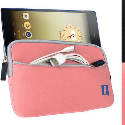 "iGadgitz Pink NeopreneTravel Case Cover for Lenovo Tab 3 7"" Tablet Thumbnail 1"