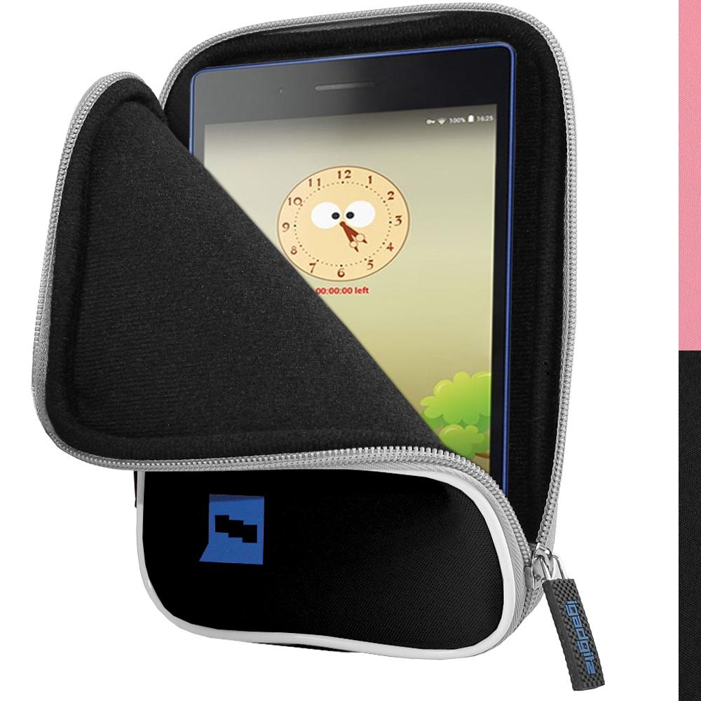 """iGadgitz Black NeopreneTravel Case Cover for Lenovo Tab 3 7"""" Tablet"""