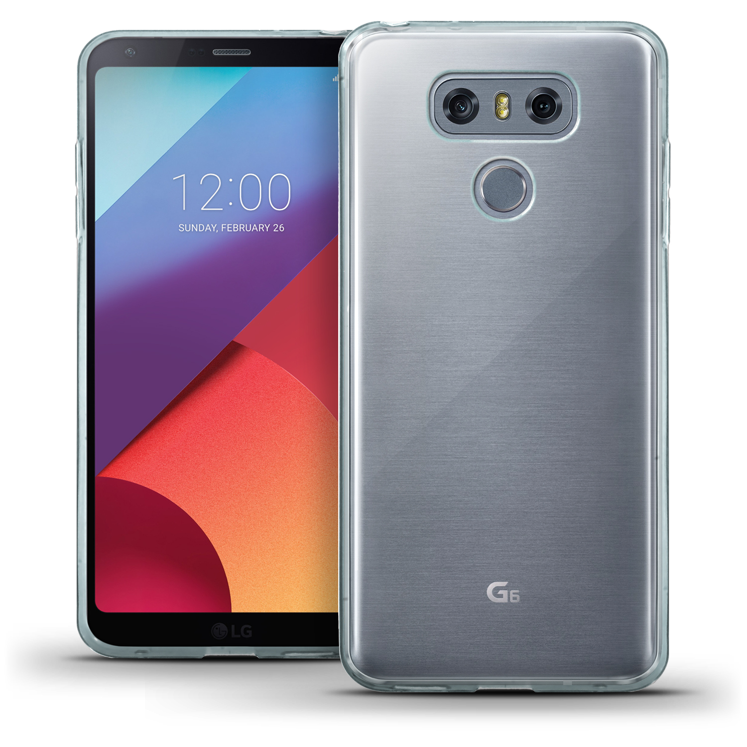 iGadgitz Glossy TPU Gel Skin Case Cover for LG G6 H870 (2017) + Screen Protector
