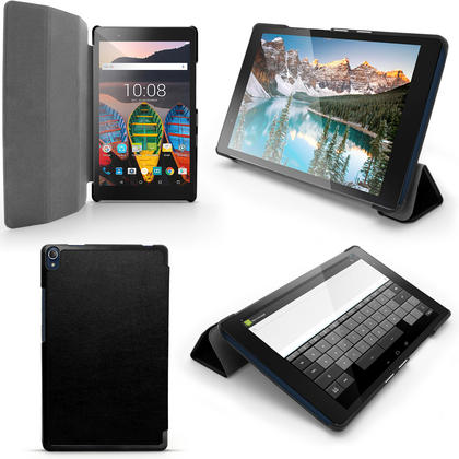 """iGadgitz PU Leather Smart Cover Case for Lenovo Tab 3 8"""" Plus TB-8703 with Sleep/Wake + Stand + Screen Protector Thumbnail 1"""