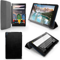 "iGadgitz PU Leather Smart Cover Case for Lenovo Tab 3 8"" Plus TB-8703 with Sleep/Wake + Stand + Screen Protector"