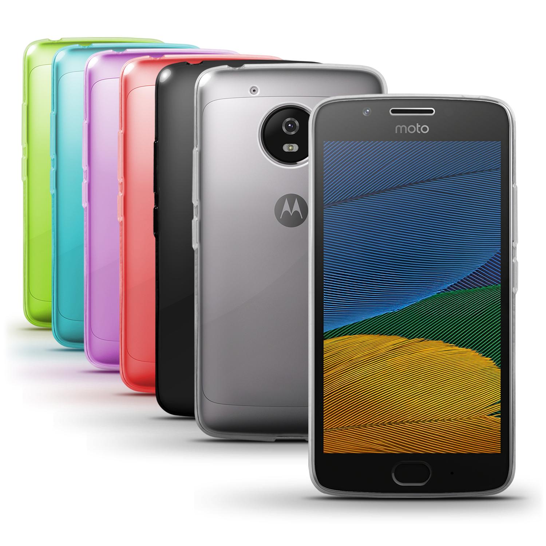 iGadgitz Glossy TPU Gel Skin Case Cover for Motorola Moto G5 (Lenvo Moto G5) + Screen Protector