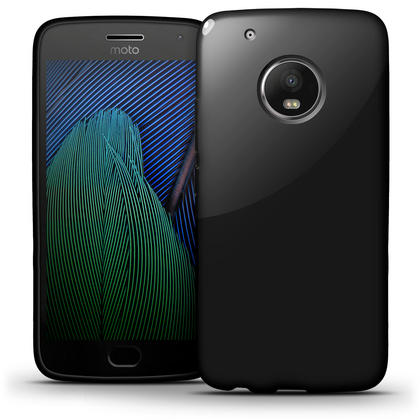 iGadgitz Glossy TPU Gel Skin Case Cover for Motorola Moto G5 Plus (Lenvo Moto G5 Plus) + Screen Protector Thumbnail 4