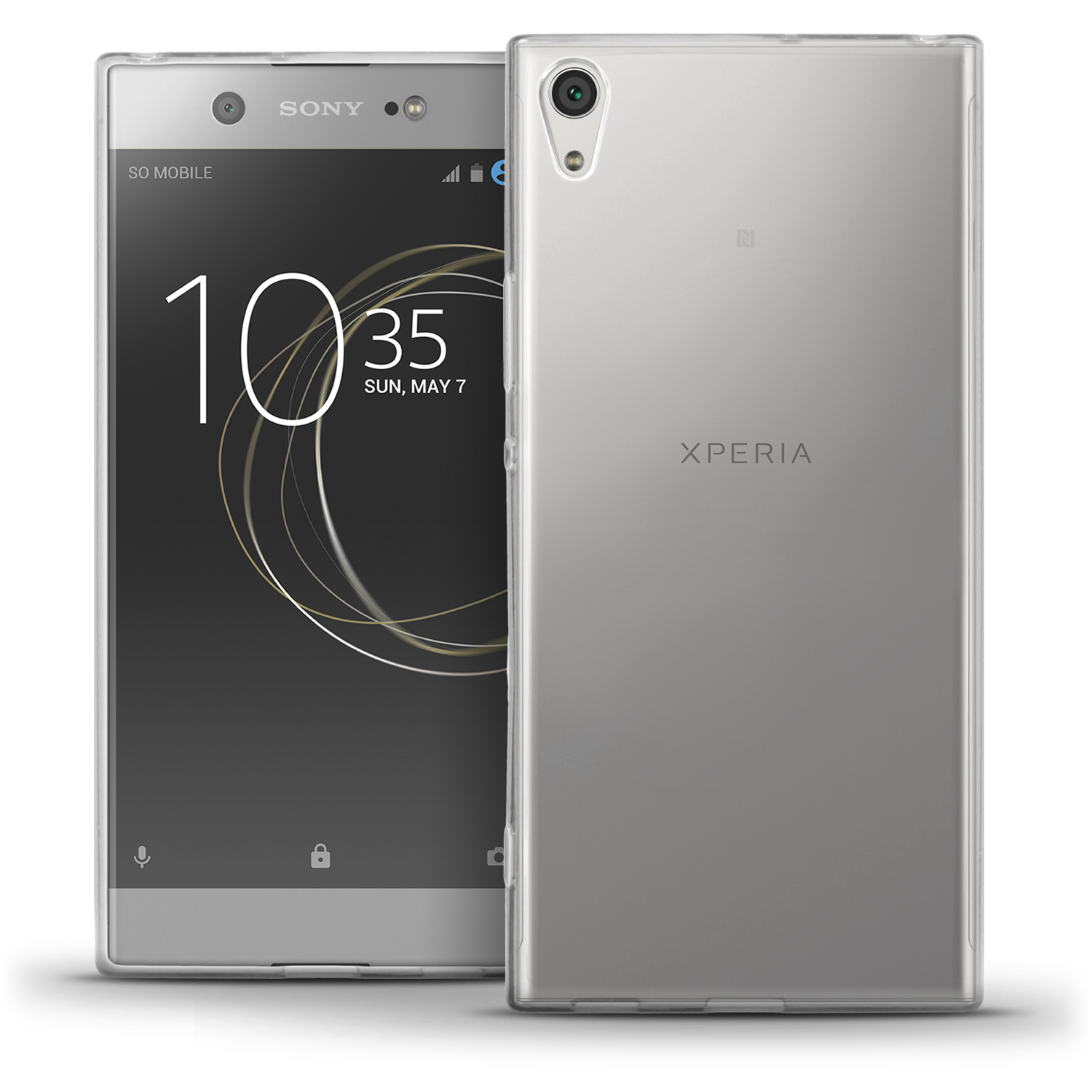 glossy tpu gel case skin for sony xperia xa1 ultra 2017 cover screen protector ebay. Black Bedroom Furniture Sets. Home Design Ideas