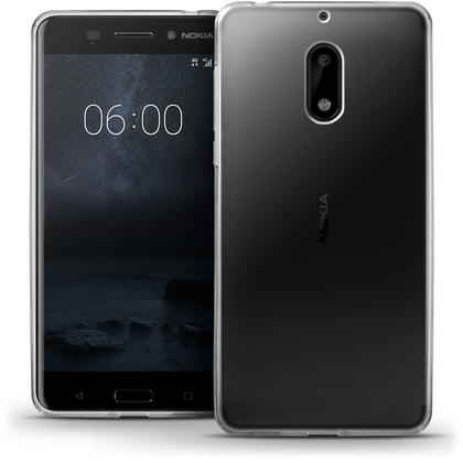 iGadgitz Glossy TPU Gel Skin Case Cover for Nokia 6 (2017) + Screen Protector Thumbnail 1