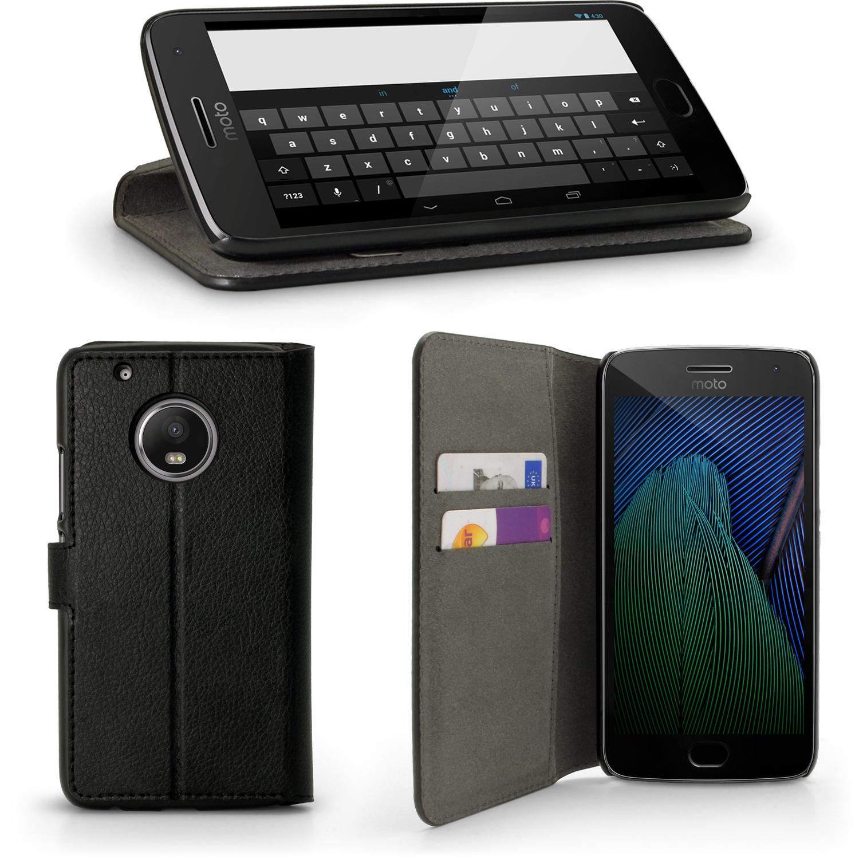 size 40 d152e 0ff77 Dettagli su Pelle PU Pelle Case Wallet per Motorola MOTO G5 PLUS (5a  generazione PLUS) Custodia Flip- mostra il titolo originale