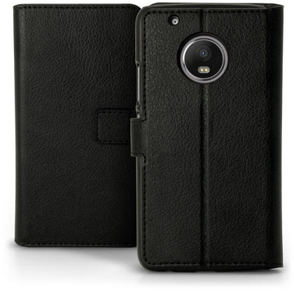 iGadgitz Wallet Flip PU Leather Case Cover for Motorola Moto G5 Plus with Card Slots + Stand + Screen Protector Thumbnail 2
