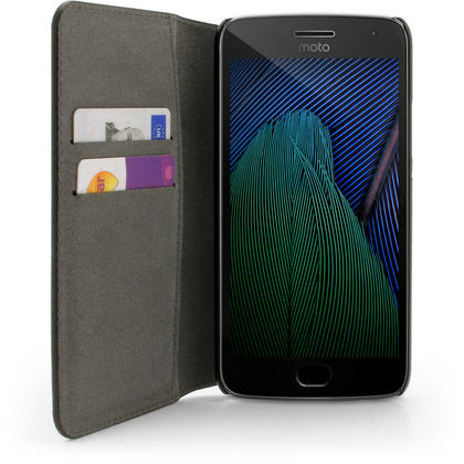 iGadgitz Wallet Flip PU Leather Case Cover for Motorola Moto G5 Plus with Card Slots + Stand + Screen Protector Thumbnail 3