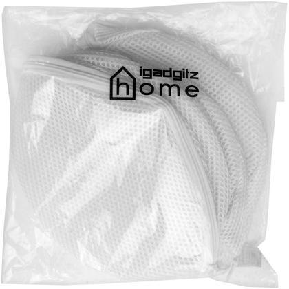 iGadgitz Home Bra Wash Bag Underwear Lingerie Laundry Bags Mesh Bra Washing Bag - Set of 3 Thumbnail 4
