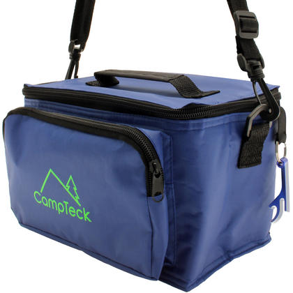 CampTeck Compact & Lightweight Water Resistant 3.5L Leak-Proof Blue Cool Bag with Carry Handle, Strap & Bottle Opener Thumbnail 1