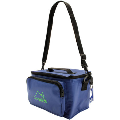 CampTeck Compact & Lightweight Water Resistant 3.5L Leak-Proof Blue Cool Bag with Carry Handle, Strap & Bottle Opener Thumbnail 4