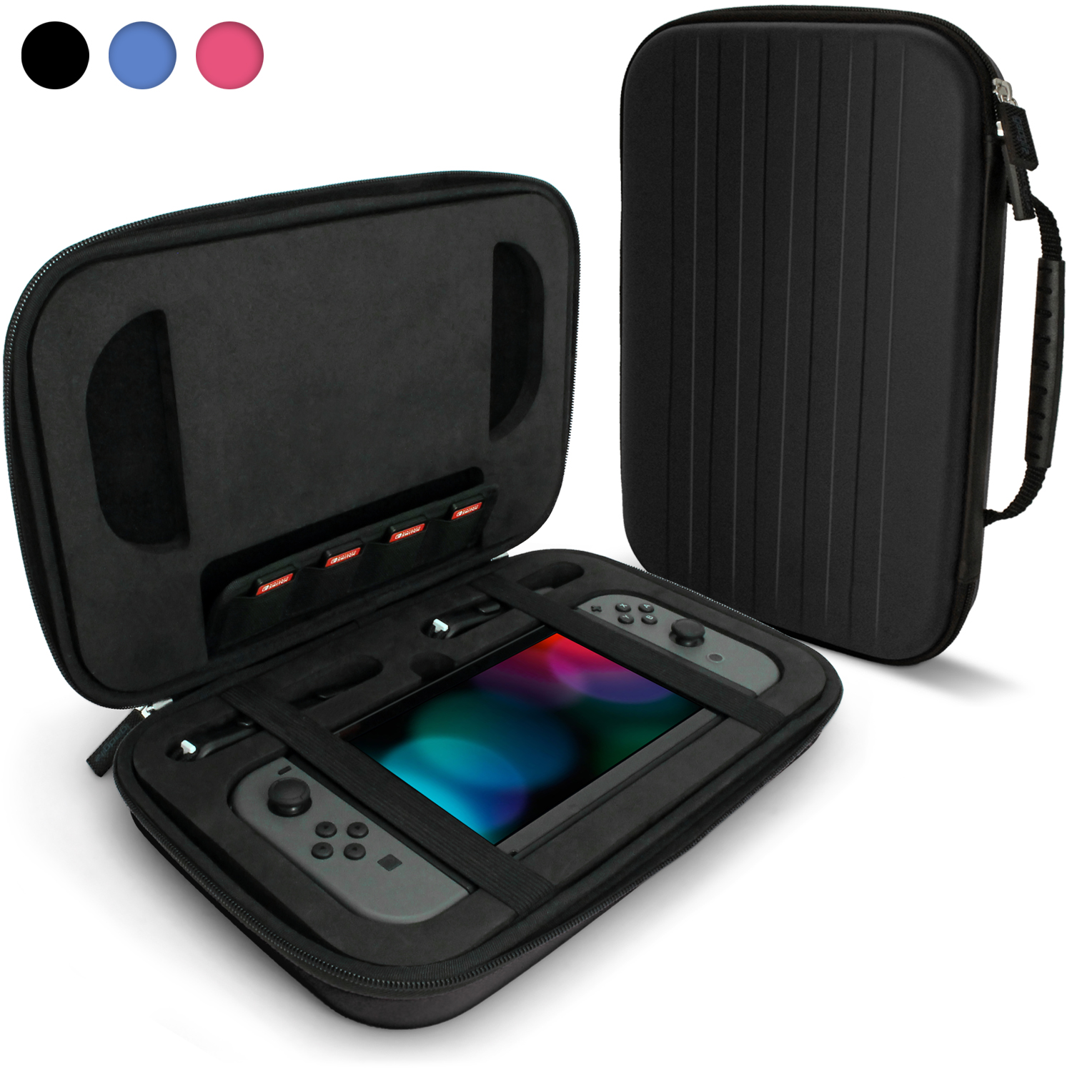 case nintendo Securely protect your nintendo switch from bumps, scratches, and drops with  hyperkin's eva hard shell carrying case its eva hard shell casing provides a.
