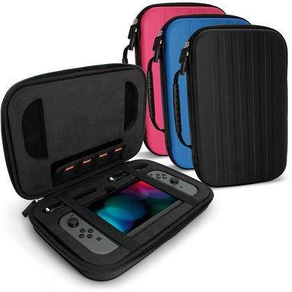 iGadgitz EVA Hard Travel Case for Nintendo Switch Cover with Shockproof Foam Inner & Carrying Handle Thumbnail 1