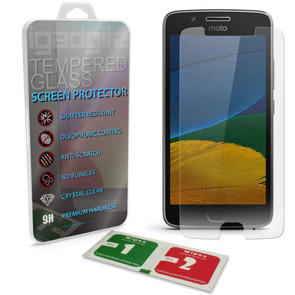 iGadgitz Tempered Glass Screen Protector for Motorola Moto G 5th Generation (2017) Shatterproof 9H Hardness Anti Scratch Thumbnail 1